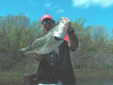 Don Hampton with a trophy bass