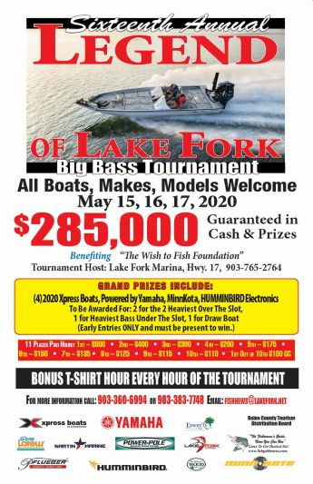 Legend of Lake Fork Big Bass Tournaments